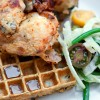 Baked Chicken With Waffles